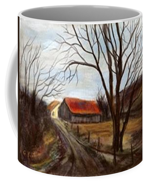 Barn Coffee Mug featuring the painting Louisa Kentucky Barn by Gail Kirtz