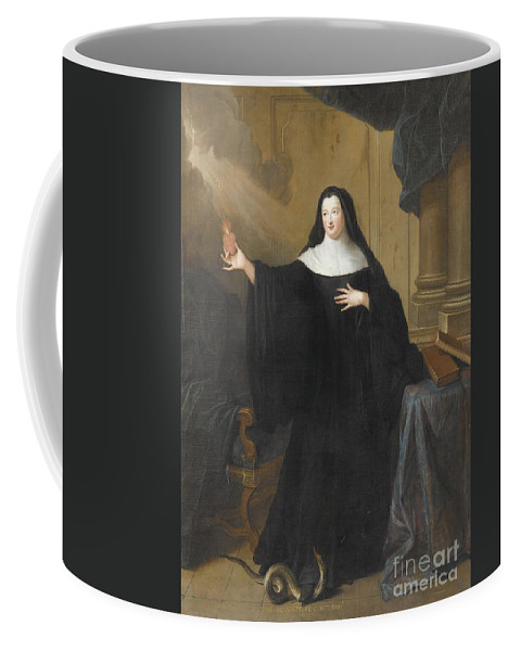 Pierre Gobert ; Louise-adela�de D'orl�ans Coffee Mug featuring the painting Louise Adelade by MotionAge Designs