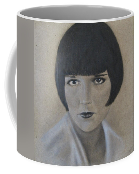 Woman Coffee Mug featuring the painting Louise by Lynet McDonald