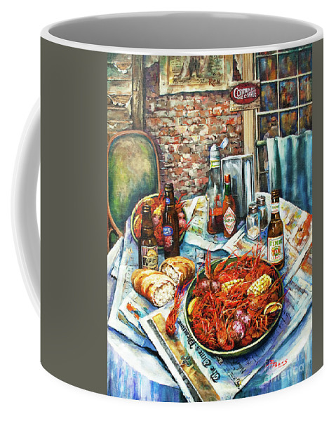 New Orleans Art Coffee Mug featuring the painting Louisiana Saturday Night by Dianne Parks