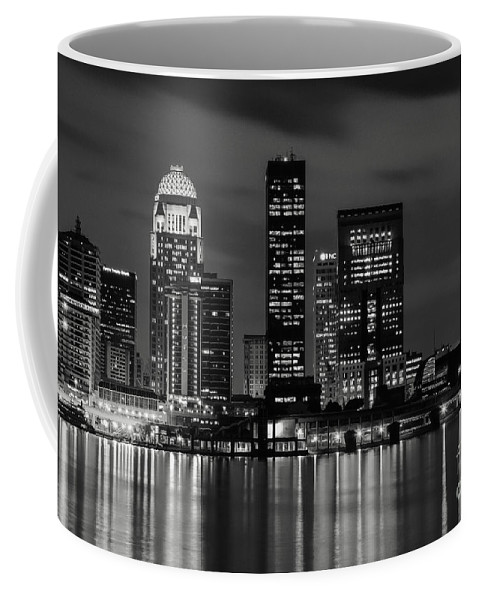 Louisville Coffee Mug featuring the photograph Louisville Skyline At Night 2 by Bob Phillips