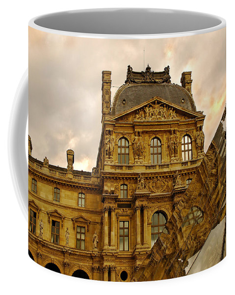 Louvre Coffee Mug featuring the photograph Louvre Reflection by Mick Burkey