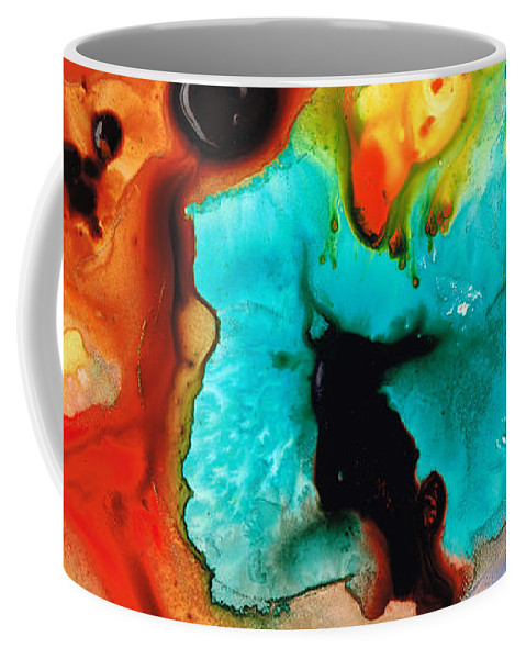 Abstract Art Coffee Mug featuring the painting Love And Approval by Sharon Cummings