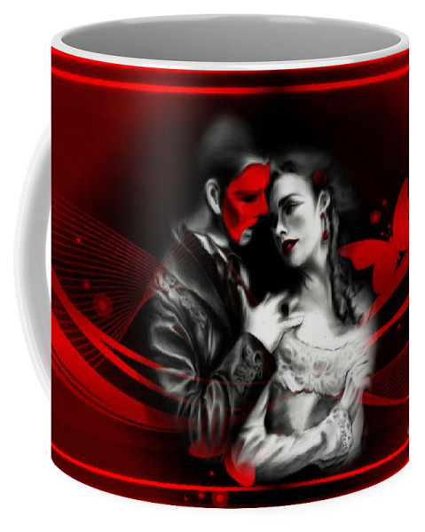 Couple Coffee Mug featuring the digital art Love Couple 3 by LDS Dya