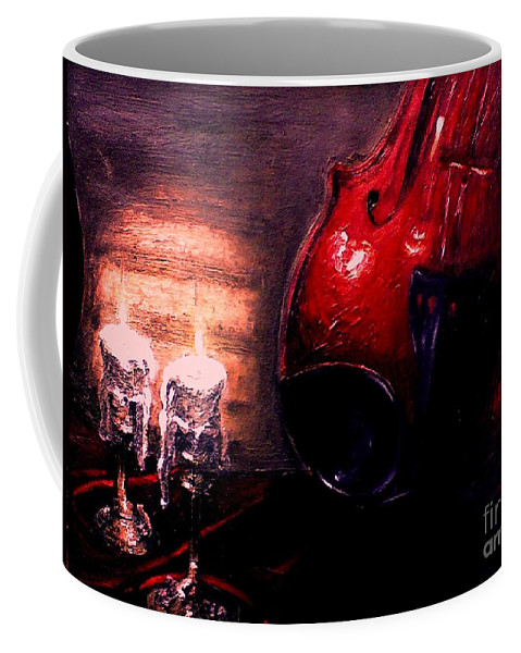 Love Coffee Mug featuring the painting Love For Music by Patricia Awapara