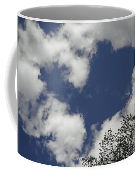 Sky Coffee Mug featuring the photograph Love From Above by T Cook