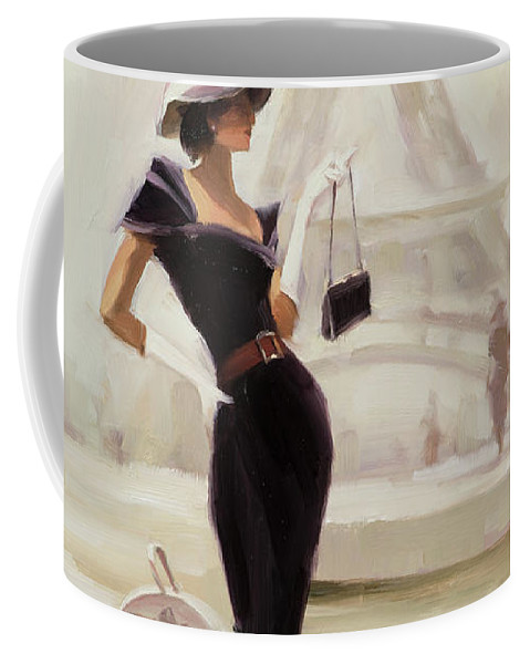 Paris Coffee Mug featuring the painting Love, from Paris by Steve Henderson