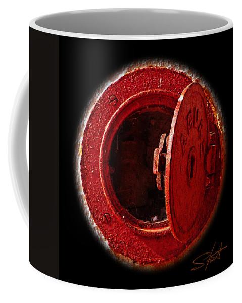 Manhole Coffee Mug featuring the photograph Love Hurts by Charles Stuart