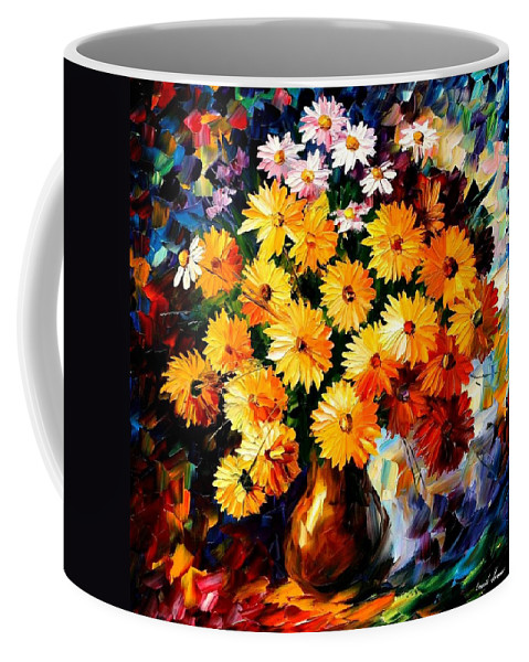 Flowers Coffee Mug featuring the painting Love Irradiation by Leonid Afremov