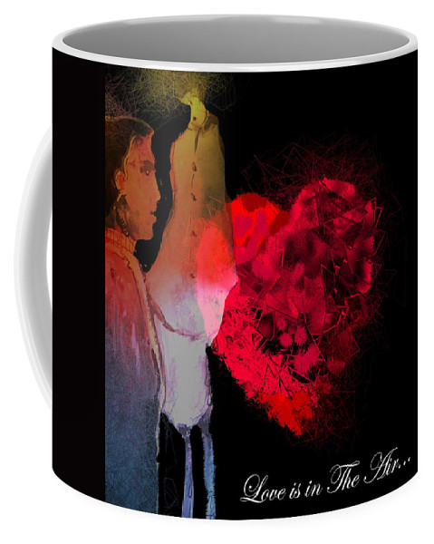 Love Coffee Mug featuring the painting Love Is In The Air by Miki De Goodaboom