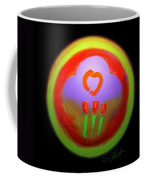 Love Coffee Mug featuring the painting Love Landscape Three by Charles Stuart