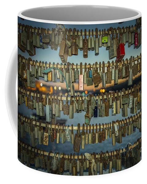Lock Coffee Mug featuring the photograph Love Locks by Rob Hawkins
