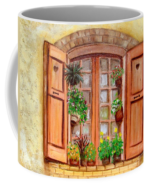 Windows Coffee Mug featuring the painting Love Nest by Laurie Morgan