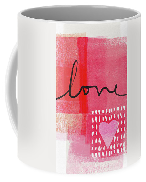 Love Coffee Mug featuring the mixed media Love Notes- Art By Linda Woods by Linda Woods