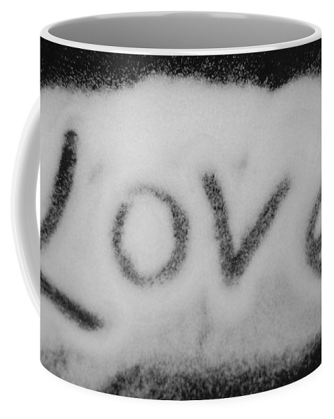 Black And White Coffee Mug featuring the photograph Love by Rob Hans
