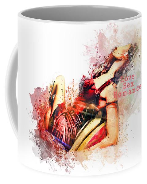Lady Coffee Mug featuring the digital art Love Sex Romance by Justyna JBJart