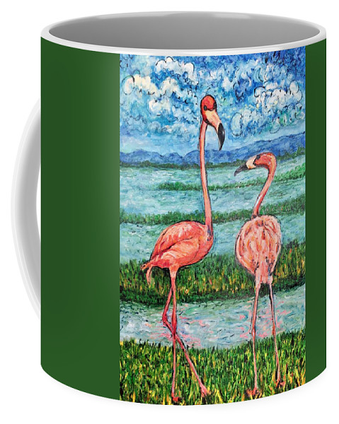 Lanscape Coffee Mug featuring the painting Love Talk by Ericka Herazo