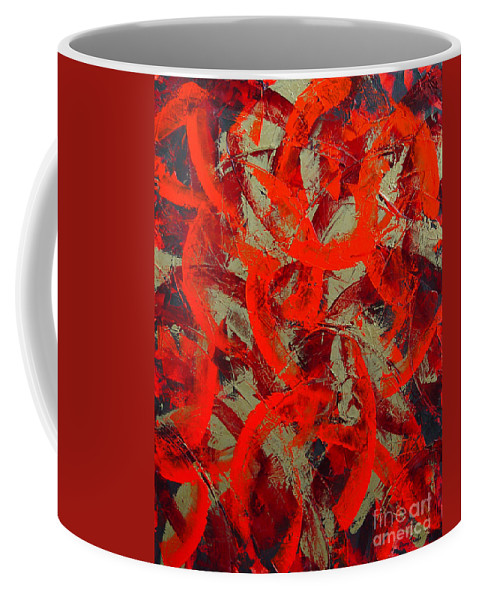 Abstract Coffee Mug featuring the painting Love Trails by Dean Triolo