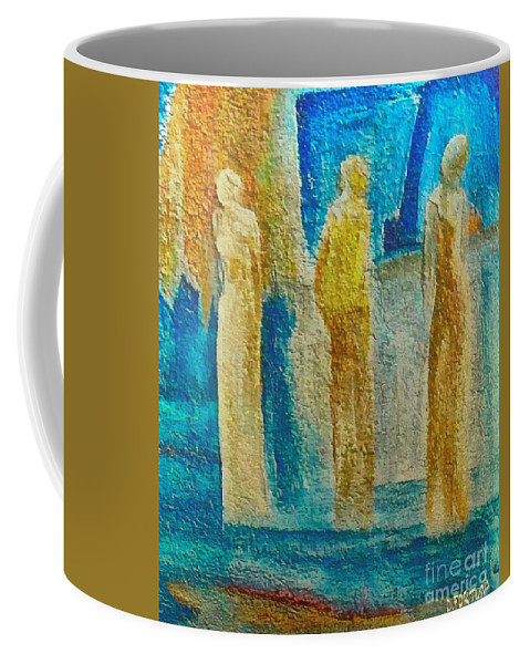 Mixed Media Coffee Mug featuring the mixed media Love Triangle by Dragica Micki Fortuna