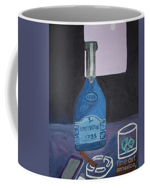 Mencave Coffee Mug featuring the painting Tamed Love by Autoya Vance