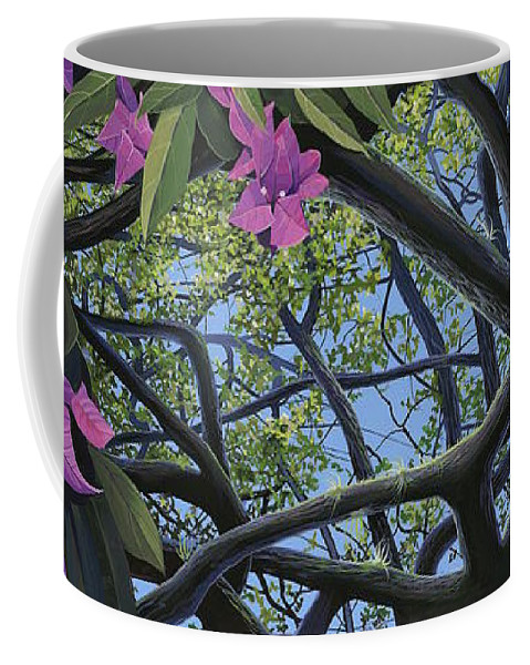 Bougainvillea Coffee Mug featuring the painting Love Voodoo by Hunter Jay