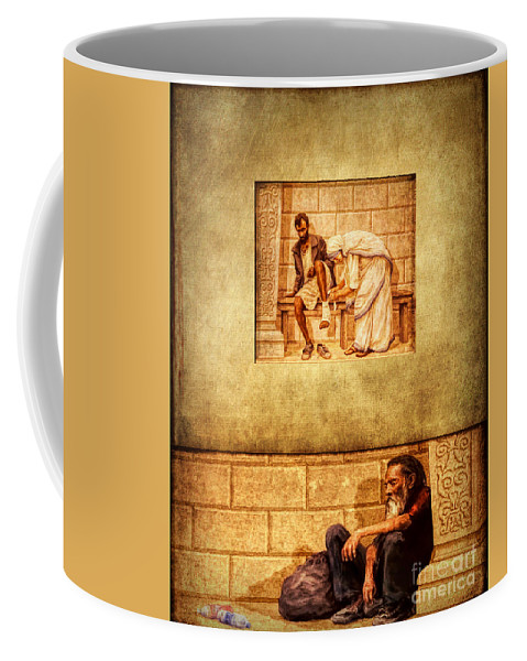 Love Your Neighbor As Yourself Coffee Mug featuring the photograph Love Your Neighbor As Yourself by Priscilla Burgers