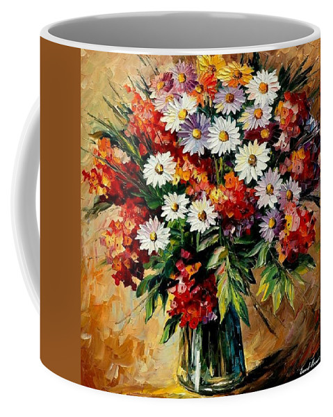 Still Life Coffee Mug featuring the painting Lovely Bouquet by Leonid Afremov