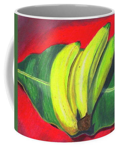 Bananas Coffee Mug featuring the painting Lovely Bunch Of Bananas by Arlene Crafton
