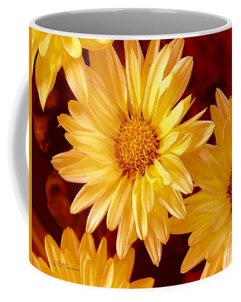 Flowers Coffee Mug featuring the photograph Lovely Mums by Patricia L Davidson