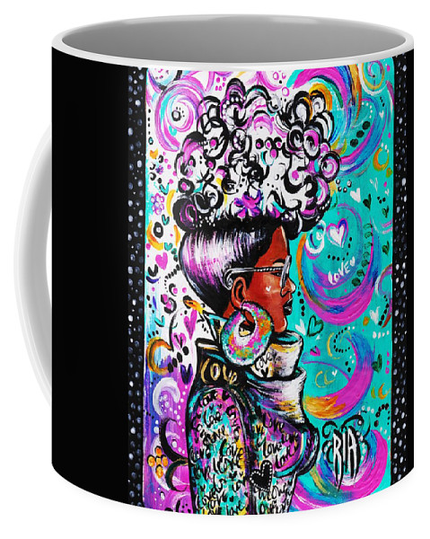 Afro Coffee Mug featuring the photograph Lovely by Artist RiA