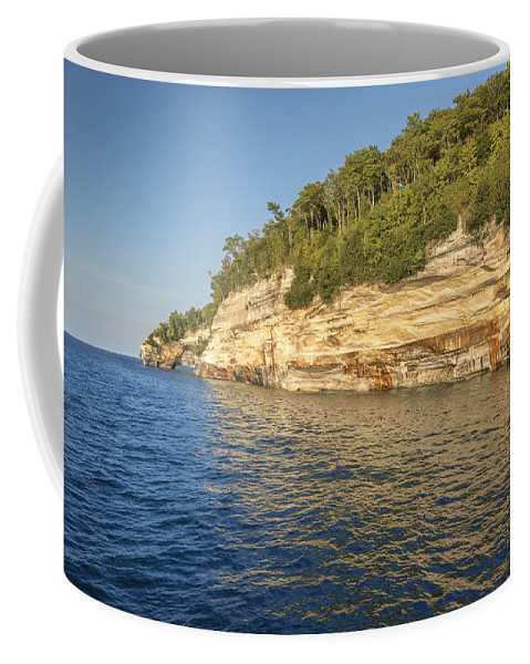Lake Coffee Mug featuring the photograph Lovers Leap by Jack R Perry