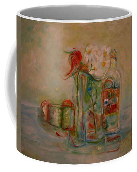 Rose Coffee Mug featuring the painting Lovers Picnic by Jack Diamond