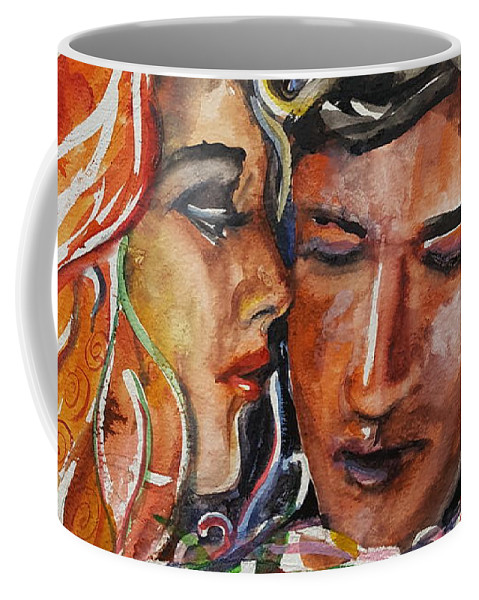 Love Coffee Mug featuring the painting Lovers by Rita Fetisov