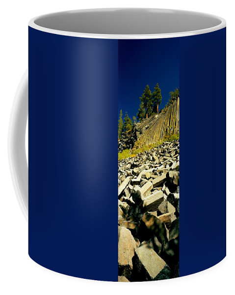 Photography Coffee Mug featuring the photograph Low Angle View Of Devils Post Pile by Panoramic Images