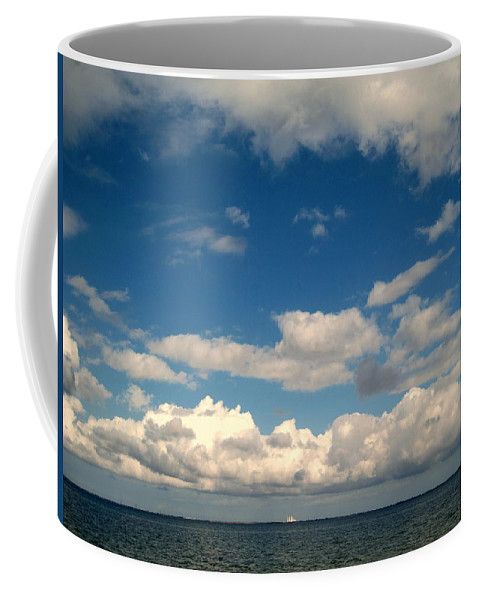 Clouds Coffee Mug featuring the photograph Low Hanging Clouds by Susanne Van Hulst