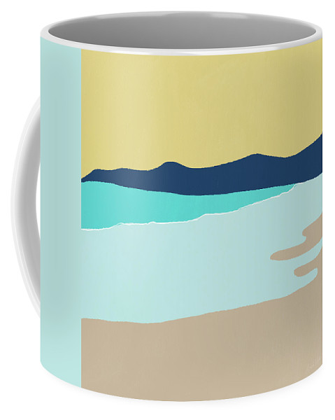 Beach Coffee Mug featuring the mixed media Low Tide- Art By Linda Woods by Linda Woods