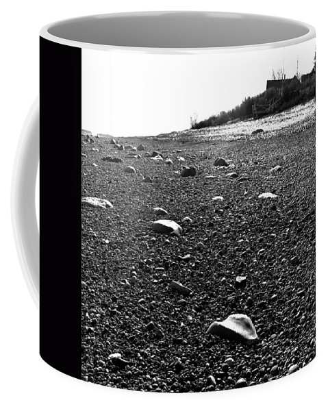 Black And White Coffee Mug featuring the photograph Low Tide At Linwood's House 26 by Timothy Bischoff