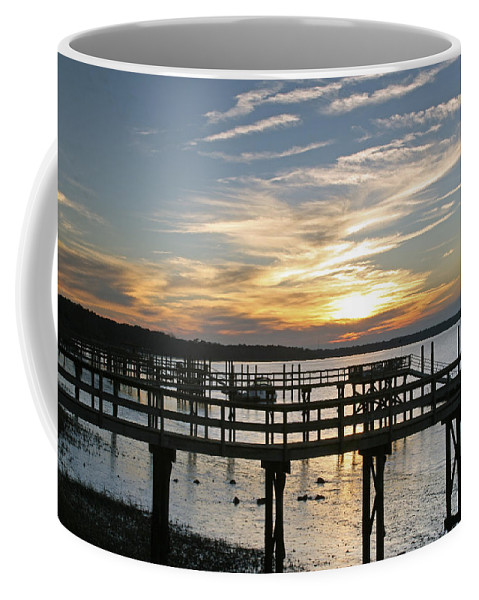 Sunset Coffee Mug featuring the photograph Low Tide by Phill Doherty