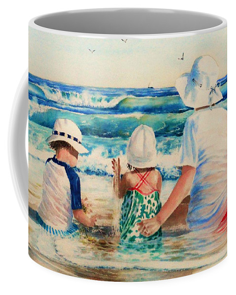 Beach Coffee Mug featuring the painting Low Tide by Tom Harris
