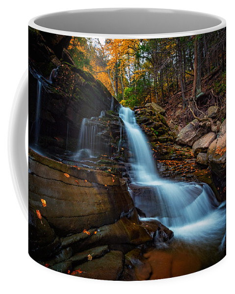 Autumn Coffee Mug featuring the photograph Lower Kaaterskill Falls by Rick Berk