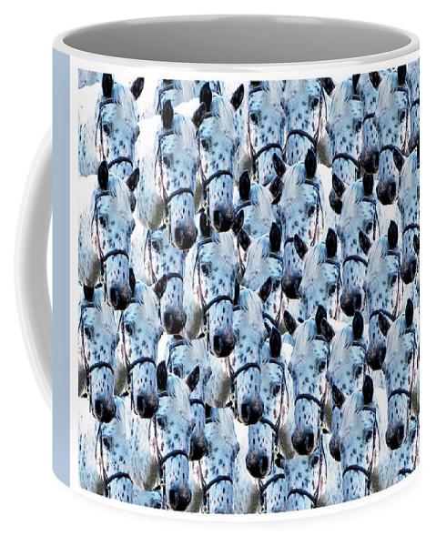 Horse Coffee Mug featuring the digital art Loyal Friend by Betsy Knapp