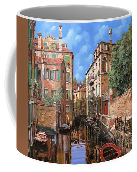 Venice Coffee Mug featuring the painting Luci A Venezia by Guido Borelli