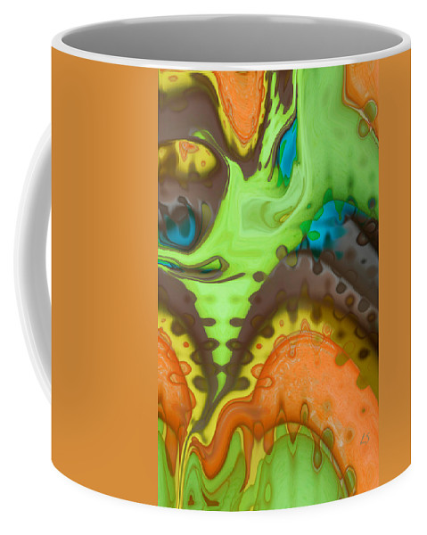 Digital Art Coffee Mug featuring the digital art Lucid Dreaming by Linda Sannuti
