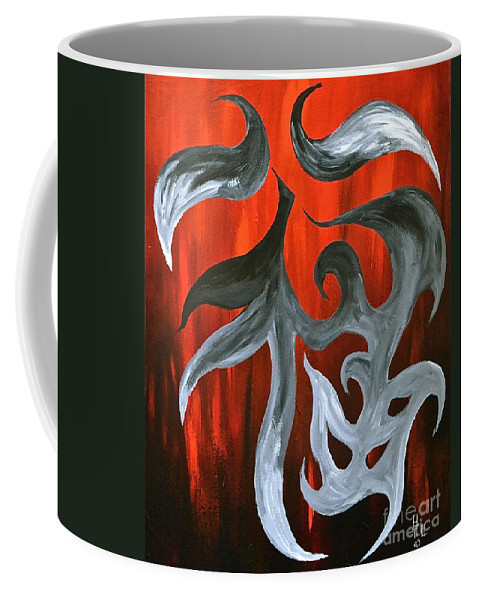Abstract Symbols By Herschel Fall Coffee Mug featuring the painting Luck by Herschel Fall