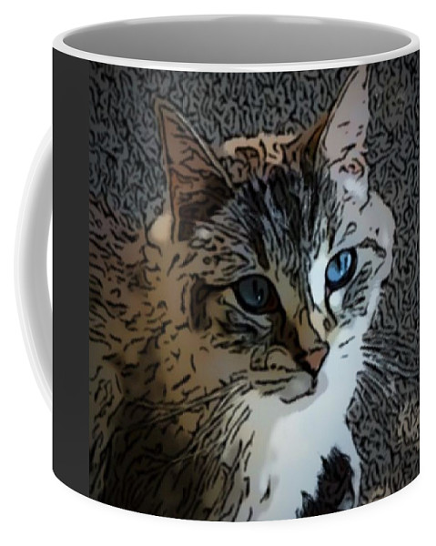 Cat Coffee Mug featuring the digital art Luke by April Patterson