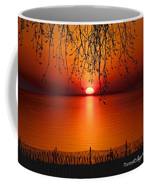 Photo Coffee Mug featuring the photograph Ludington Sunset April 2016 by Dick Bourgault