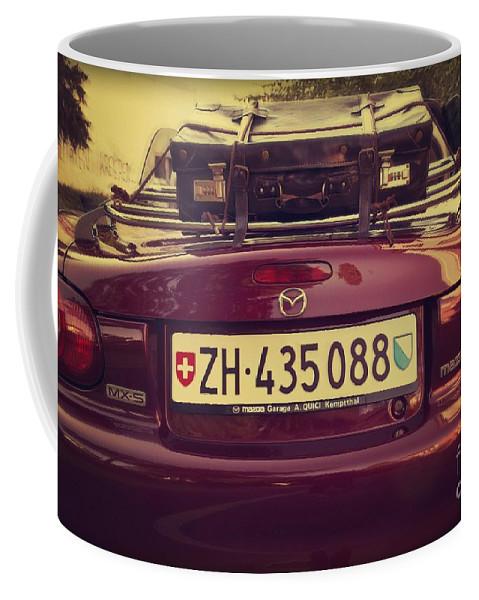 Car Coffee Mug featuring the photograph Luggage by Dania Reichmuth