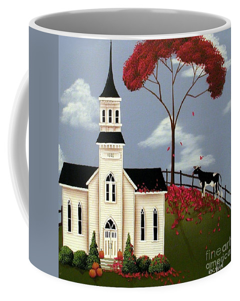 Art Coffee Mug featuring the painting Lulabelle Goes To Church by Catherine Holman