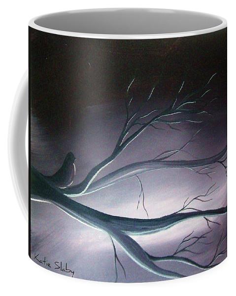 Bird Coffee Mug featuring the painting Luminous by Katie Slaby