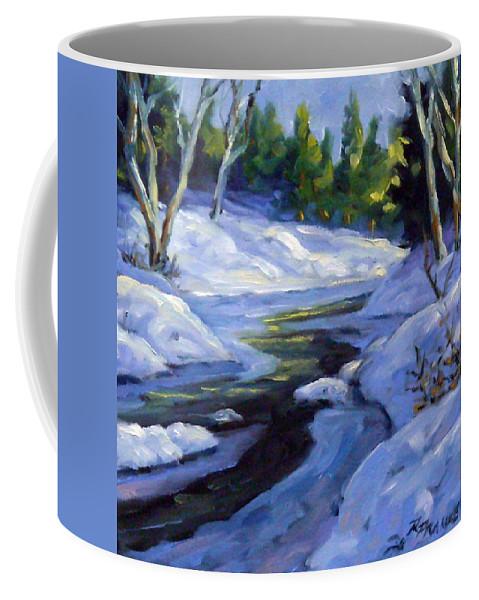 Art Coffee Mug featuring the painting Luminous Snow by Richard T Pranke